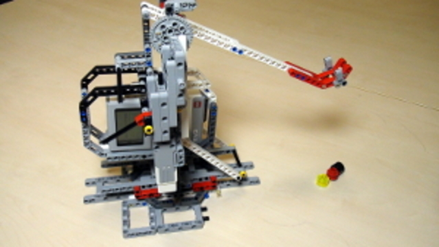 Catapult built from LEGO Mindstorms EV3/NXT (Part 2 - Base)