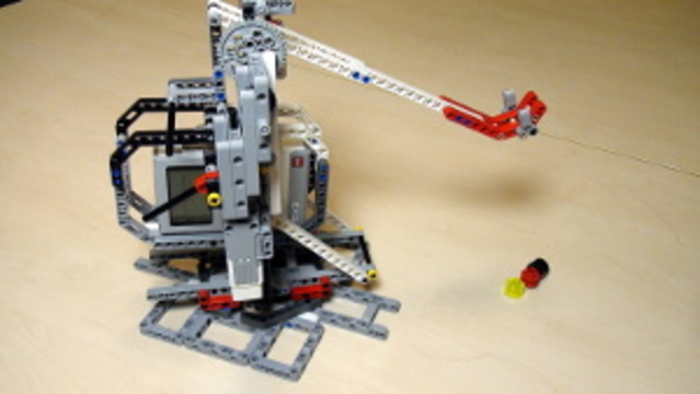 Preview for Catapult built from LEGO Mindstorms EV3/NXT(Part 4 - EV3 clutch and loading)