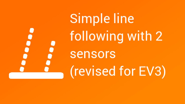 Image for How to follow a line with two light/color sensors (revised for EV3)