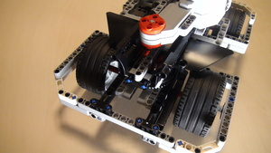 Image for Positioning motors on BigDaddy Competition Robot - first try