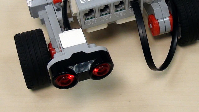 Image for EV3 basics course. Ultrasonic Sensor. Move after object is removed (part2)