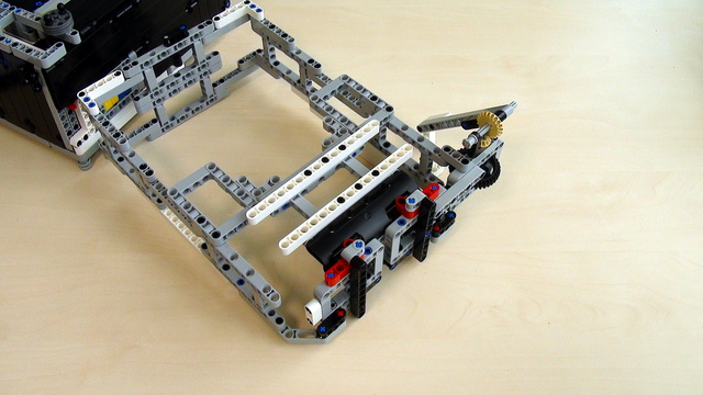 Preview for Attachments for Box Robot for Robotics Competitions. Active Attachment at the top of the Robot