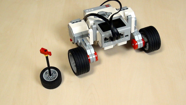 Image for EV3 Phi. Teacher Notes. Recap on turning with LEGO Mindstorms robot