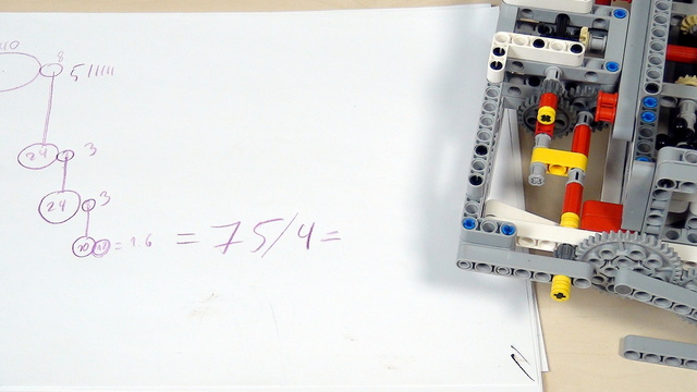 Image for Improving FLL Robot Game. How to calculate gear ratio in complex systems