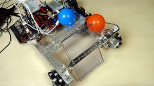 Image for FTC PushBot Modified Robot for Collecting Balls with Plastic Plate