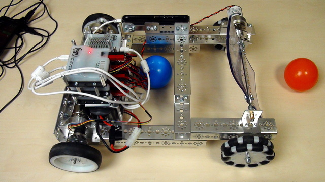 Image for Tetrix FTC. Modify the PushBot to collect balls