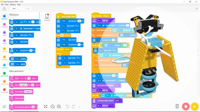 Image for  Program for Tohuru - LEGO SPIKE Prime owl robot