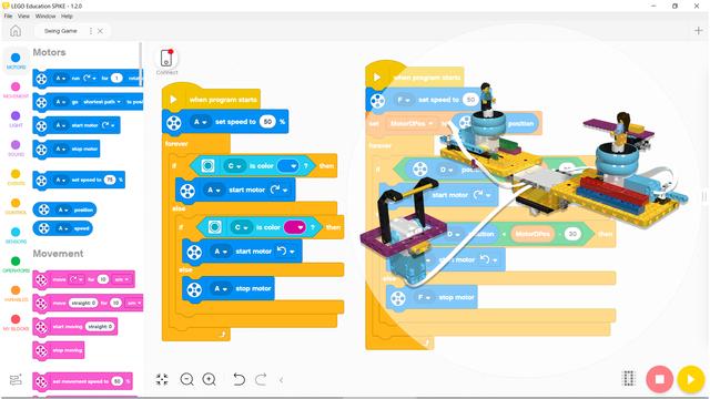 Image for Program for Swing Game - LEGO SPIKE Prime robot