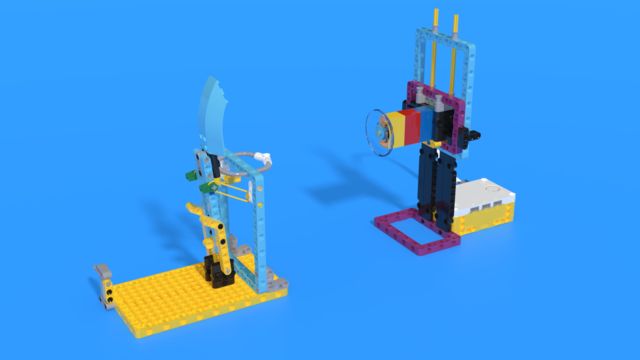 Image for Pallo - SPIKE Prime catapult robot with target