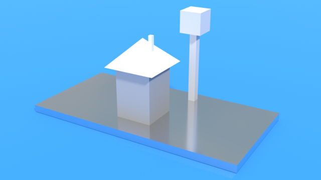 Image for Simple House Model from SolidWorks with two IS-STEP in the Feature Manager