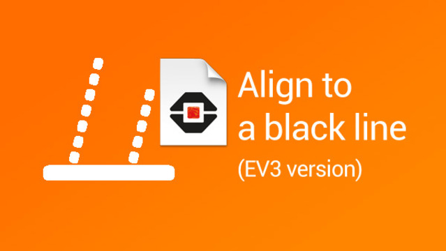 Image for How to align LEGO Mindstorms robots to a black line (EV3 version)